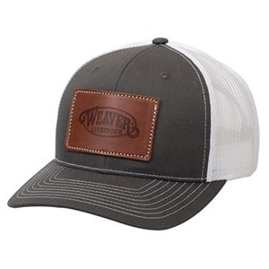 LEATHER CAP CHARCOAL / WHITE