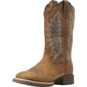 LADIES HYBRID OILY DISTRESSED TAN ARIAT BOOTS