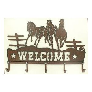 SIGN WELCOME HORSE HOOKS