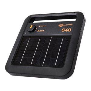 Électrificateur - Gallagher S40, 0.4 joules, solaire